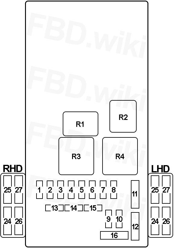 99-'06 mitsubishi pajero, montero & shogun fuse diagram  knigaproavto.ru