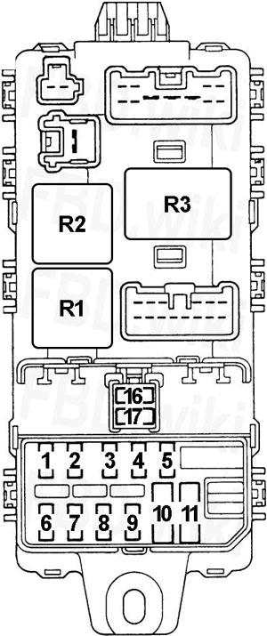 95-'03 mitsubishi lancer, mirage & colt fuse diagram  knigaproavto.ru
