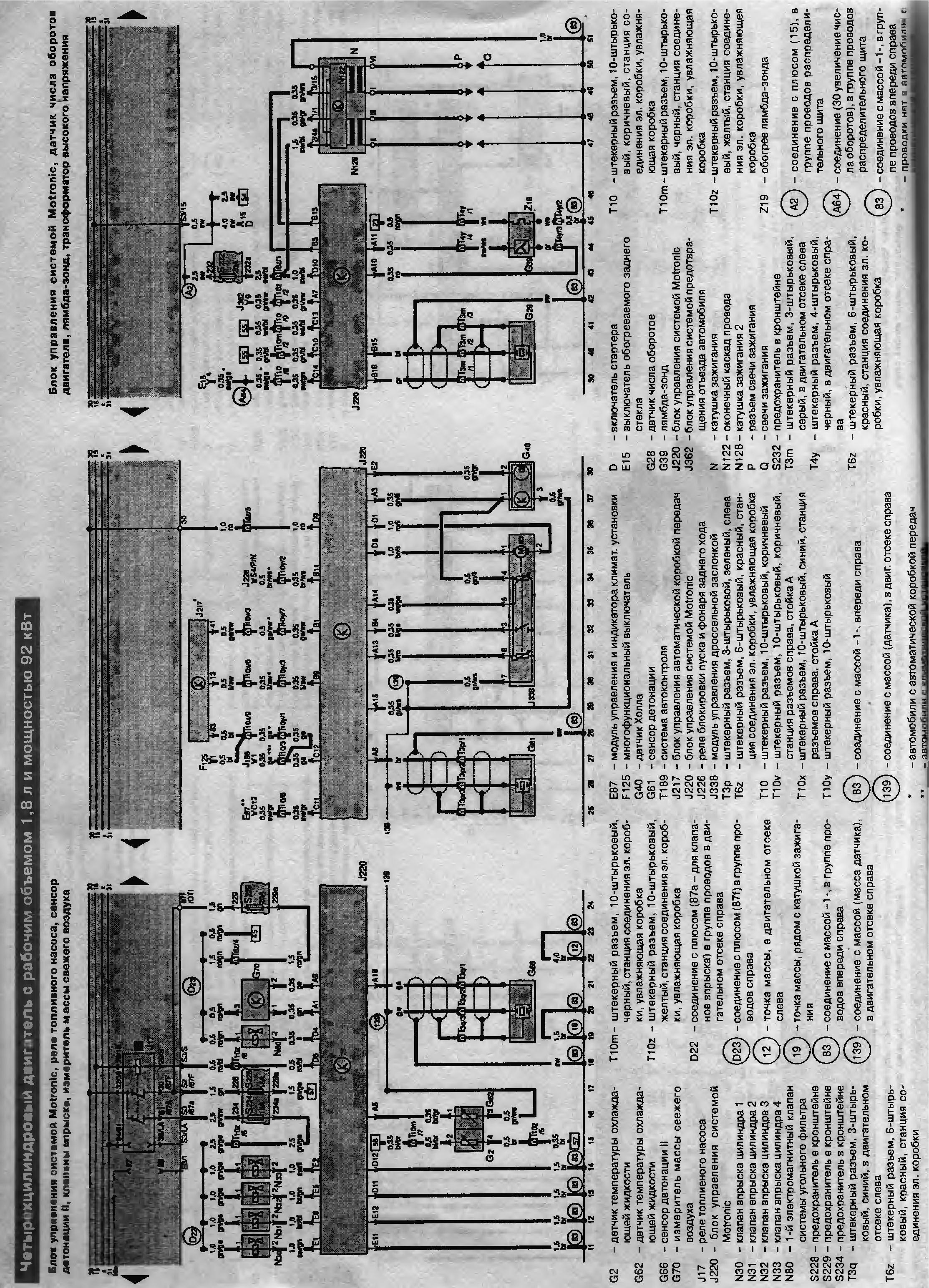 электрическая схема митсубиси галант 1993г