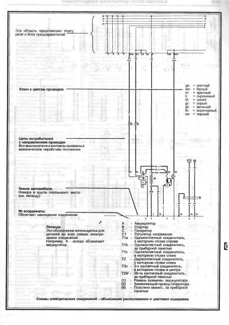 Схема электропроводки ауди 100