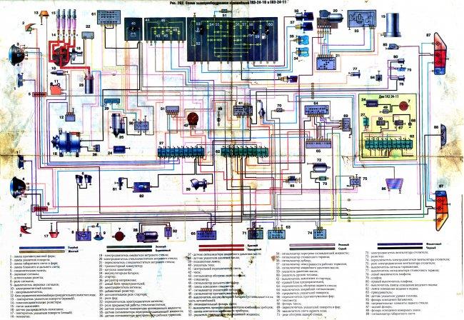 Цветная электрическая схема